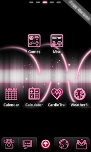 Neon Pink Free Go EX Theme - screenshot thumbnail