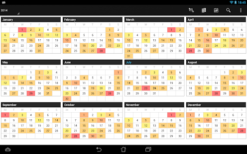 Business Calendar Pro – Miniaturansicht des Screenshots