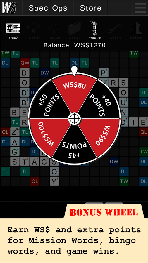 Wordspionage - screenshot