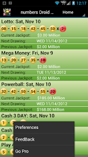 Lottery Droid Lite - screenshot thumbnail