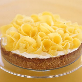 Key Lime Cheesecake with Mango Ribbons