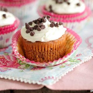 Pumpkin Brownie Cupcakes with Vanilla Bean Buttercream.