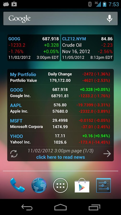 Stock Quote - screenshot