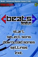 Screenshot of Beats, Advanced Rhythm Game