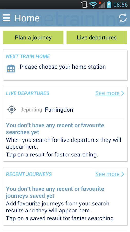 thetrainline - screenshot