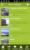 Screenshot of North Spain Holiday Guide