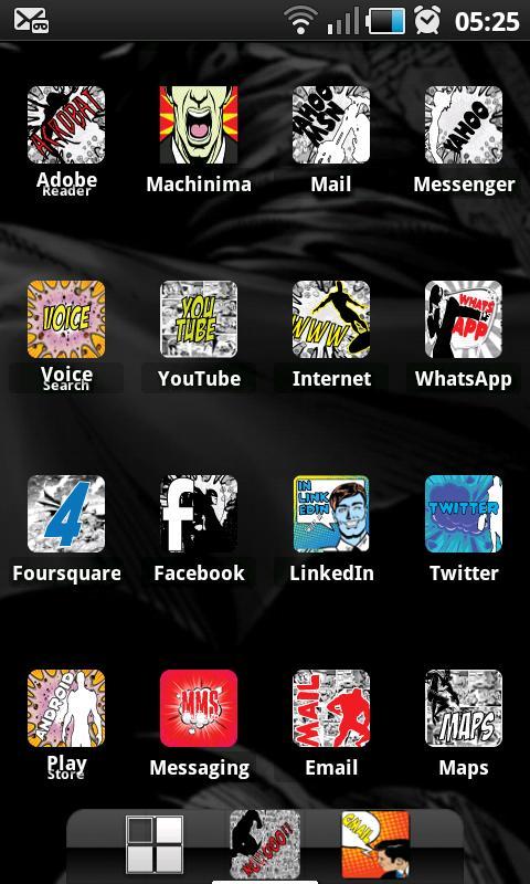 COMIC BOOK HD ADW Theme- screenshot