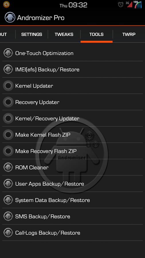 Andromizer Pro - screenshot