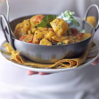 Potato Curry With Lime & Cucumber Raita