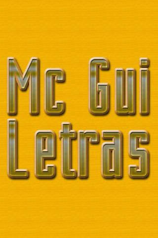 MC Gui Letras