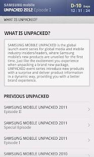 SAMSUNG mobile UNPACKED 2012 - screenshot thumbnail