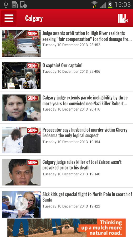 Calgary SUN+ - screenshot