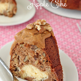 Cheesecake Filled Apple Cake