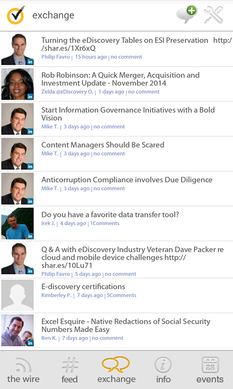 Symantec eDiscovery Exchange - screenshot