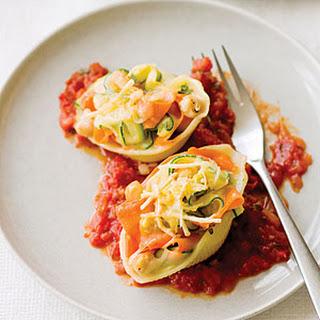 Vegetable Ribbon Pasta Shells