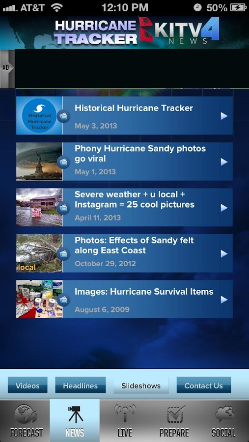 Hurricane Tracker KITV- screenshot