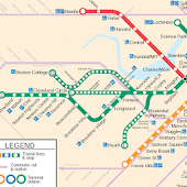 BOSTON MBTA METRO MAP HD