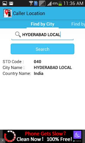 Mobile Caller Location Tracker Screenshot