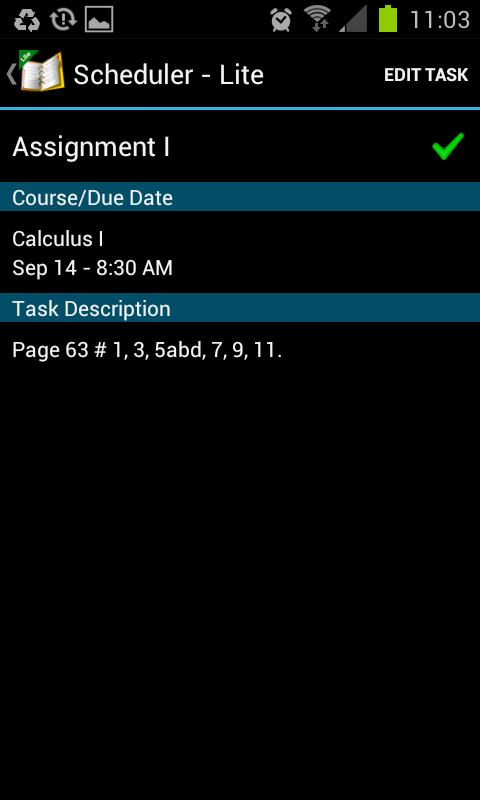 School Scheduler - Lite- screenshot