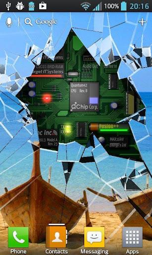 Cracked Screen Gyro 3D Parallax Wallpaper HD 1.0.5 screenshots 1