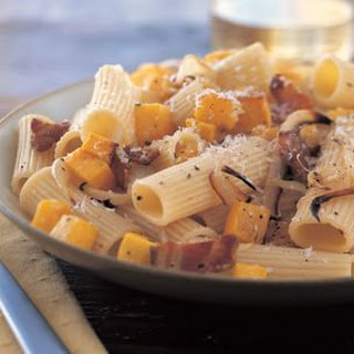 Roasted Squash and Bacon Pasta