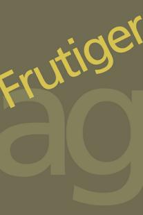 Frutiger FlipFont– уменьшенный скриншот