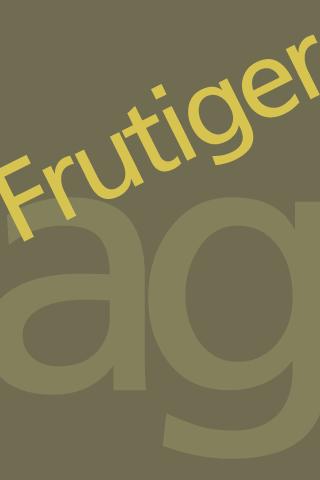 Frutiger FlipFont– скриншот