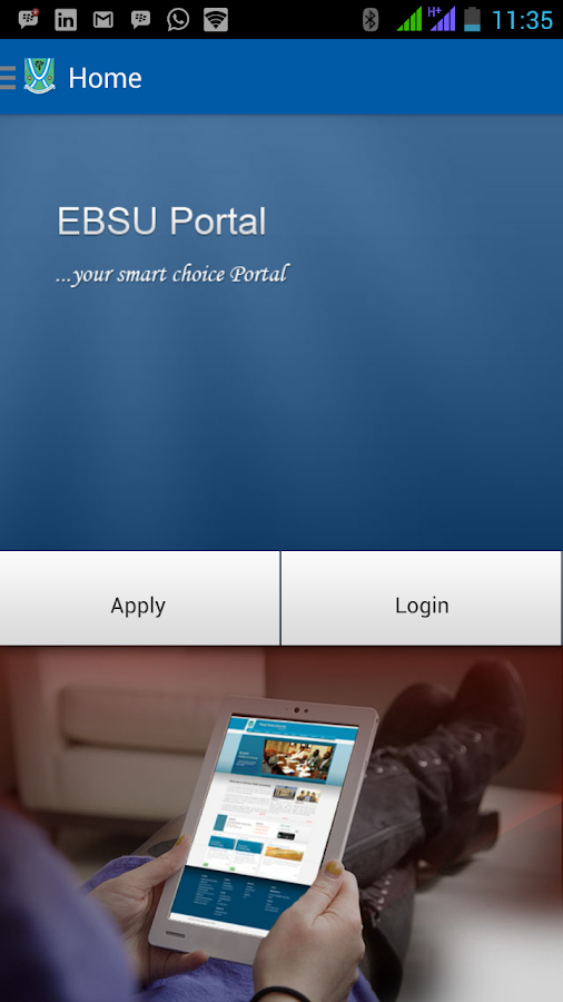 Ebonyi State University Portal- screenshot