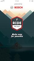Screenshot of Ride the Way; motorbike routes