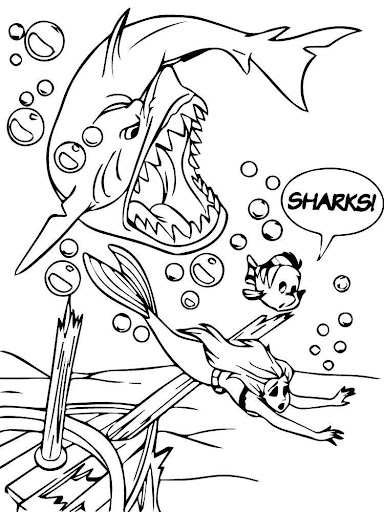 Coloring Princess Mermaid Kids