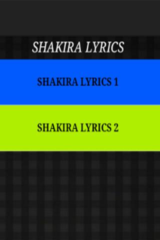 Shakira - Just The Lyrics