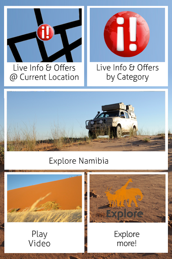 Explore Namibia Phone: screenshot