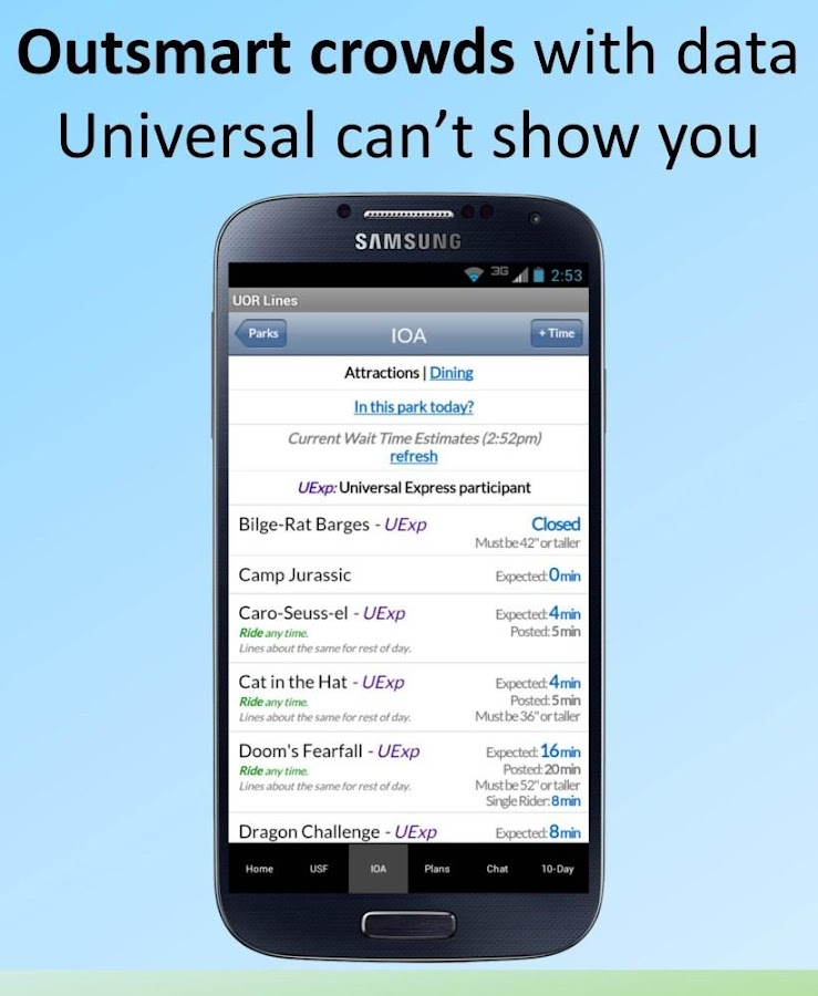 Universal Orlando Lines - screenshot