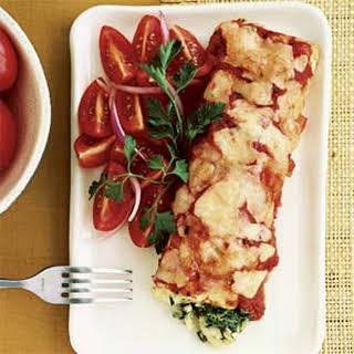 Spinach and Crab Enchiladas.