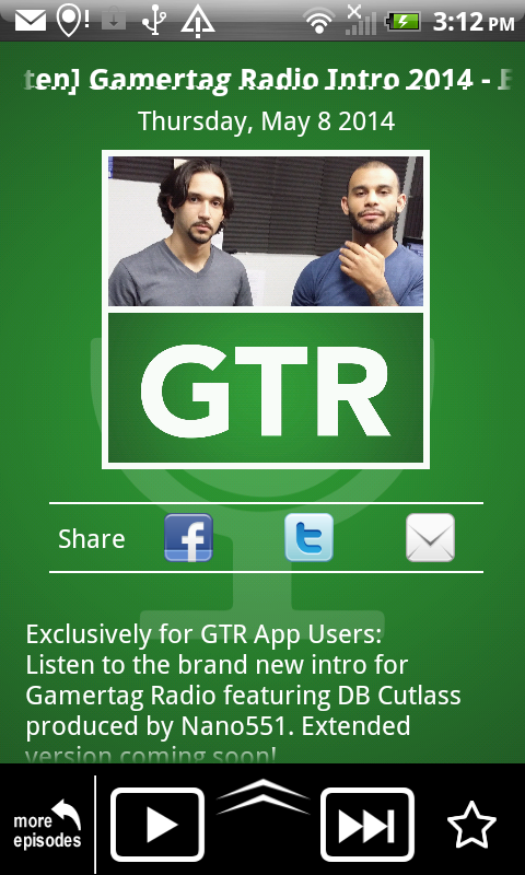 Gamertag Radio App- screenshot