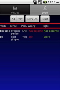 Verbuga English Verb Trainer - screenshot thumbnail