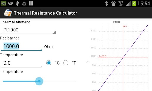Thermal Resistance Calculator - screenshot thumbnail