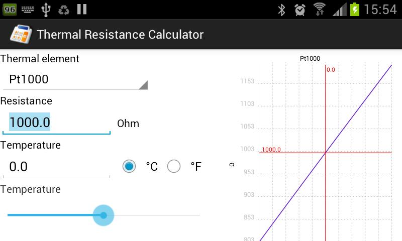 Thermal Resistance Calculator - screenshot