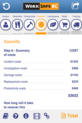 Incident Cost Calculator- screenshot