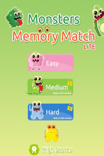 Monsters Memory Match Lite