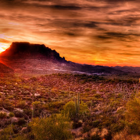 by Jim Moon - Landscapes Sunsets & Sunrises ( eastern arizona, hdr, superior, colors, , Earth, Light, Landscapes, Views )