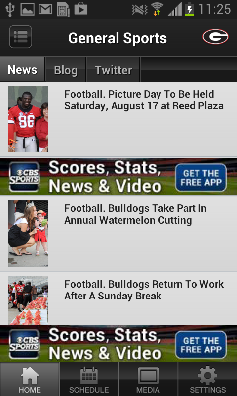 Georgia Sports - screenshot