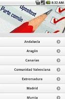 Screenshot of OposiTest temario comun Plus