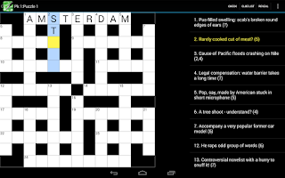 Screenshot of Crossword Cryptic