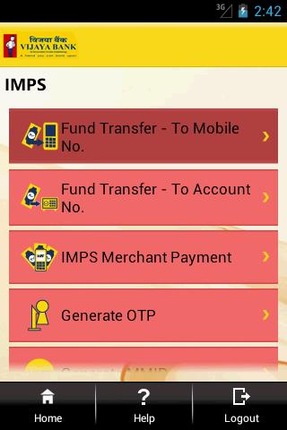 vijaya bank online banking application