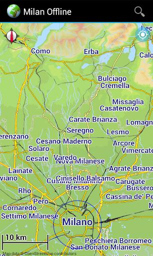 Offline Map Milan Lake Como