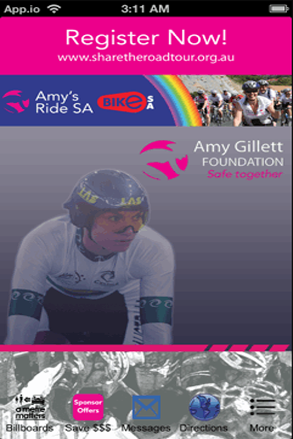 Amy Gillett Events- screenshot