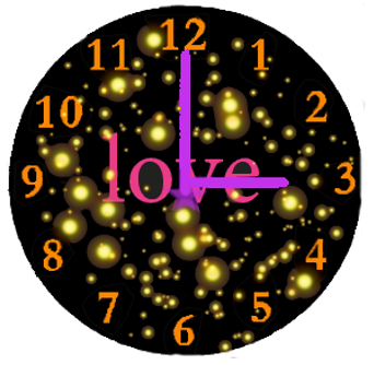 Love Analog Clock