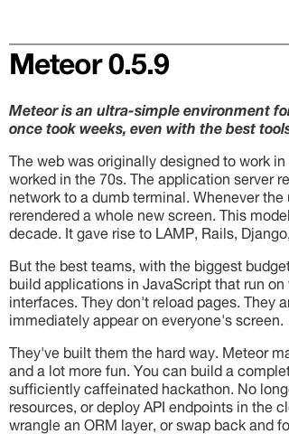 Meteor.js documentation