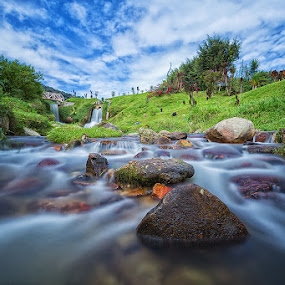 Waterfall Silky water by Lb Chong Jacobs - Landscapes Waterscapes